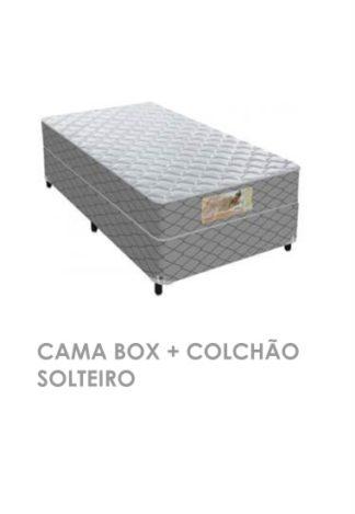 Cama Box +Colchão Solteiro