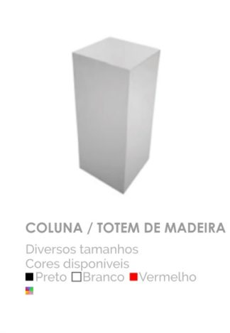 Coluna Totem de Madeira