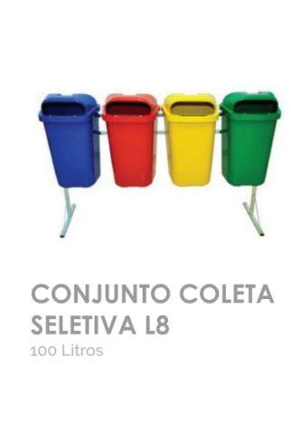 Conjunto Coleta Seletiva L8 100 litros