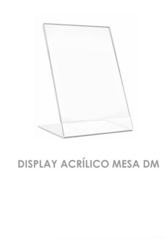 Display Acrílico Mesa DM