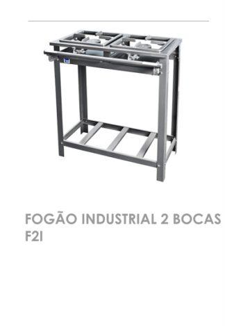 Fogão Industrial 2 Bocas F2I