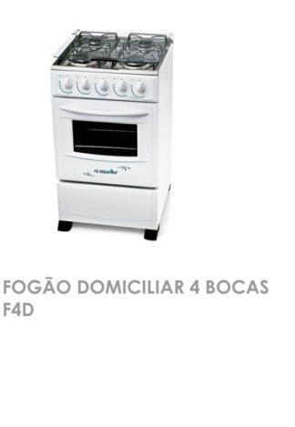 Fogão Domiciliar 4 Bocas F4D