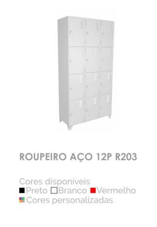 Roupeiro Aço 12P R203