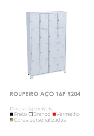 Roupeiro Aço 16P R204