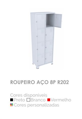 Roupeiro Aço 8P R202