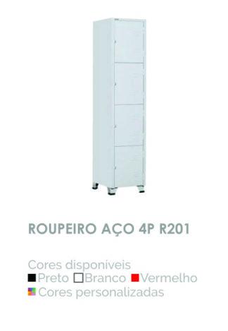 Roupeiro Aço 4P R201